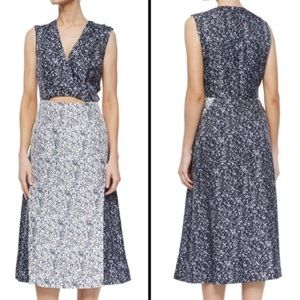 Derek Lam 10 Crosby | Studded Floral Cut-out Dress